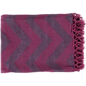 "Surya Rugs Throw Blankets Thacker 50"" x 70"" Throw"