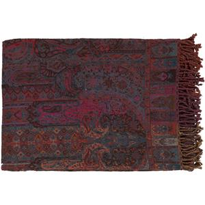"Surya Rugs Throw Blankets Tenali 55"" x 80"" Throw"