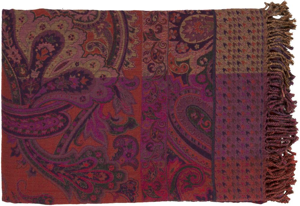 "Surya Throw Blankets Tenali 55"" x 80"" Throw - Item Number: TNL1001-5580"