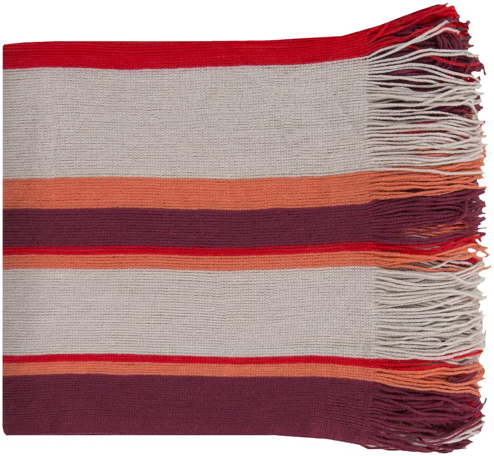 "Surya Rugs Throw Blankets Topanga 50"" x 60"" Throw - Item Number: TPG1001-5060"