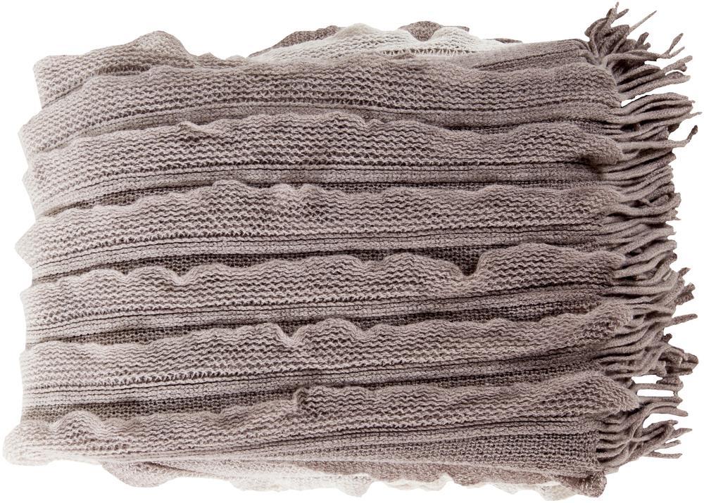 """Surya Throw Blankets Toya 50"""" x 60"""" Throw - Item Number: TYA3009-5060"""