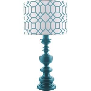 Surya Wilson Cobalt Contemporary Table Lamp