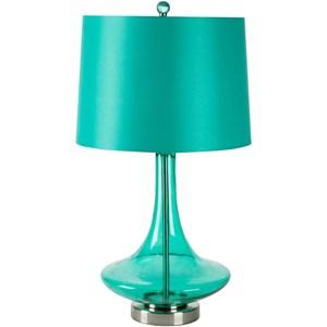 Transparent Teal Modern Table Lamp