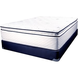 Full Coil on Coil Pillow Top Mattress Set
