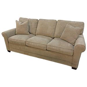 Synergy Home Furnishings 1021 Queen Sofa Sleeper with Rolled Arms