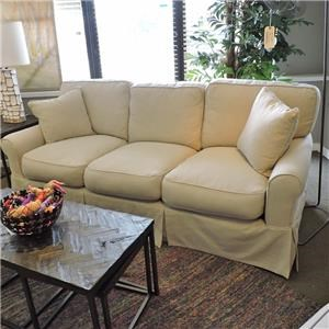 Synergy Furniture Industries Nancy Slipcovered Sofa