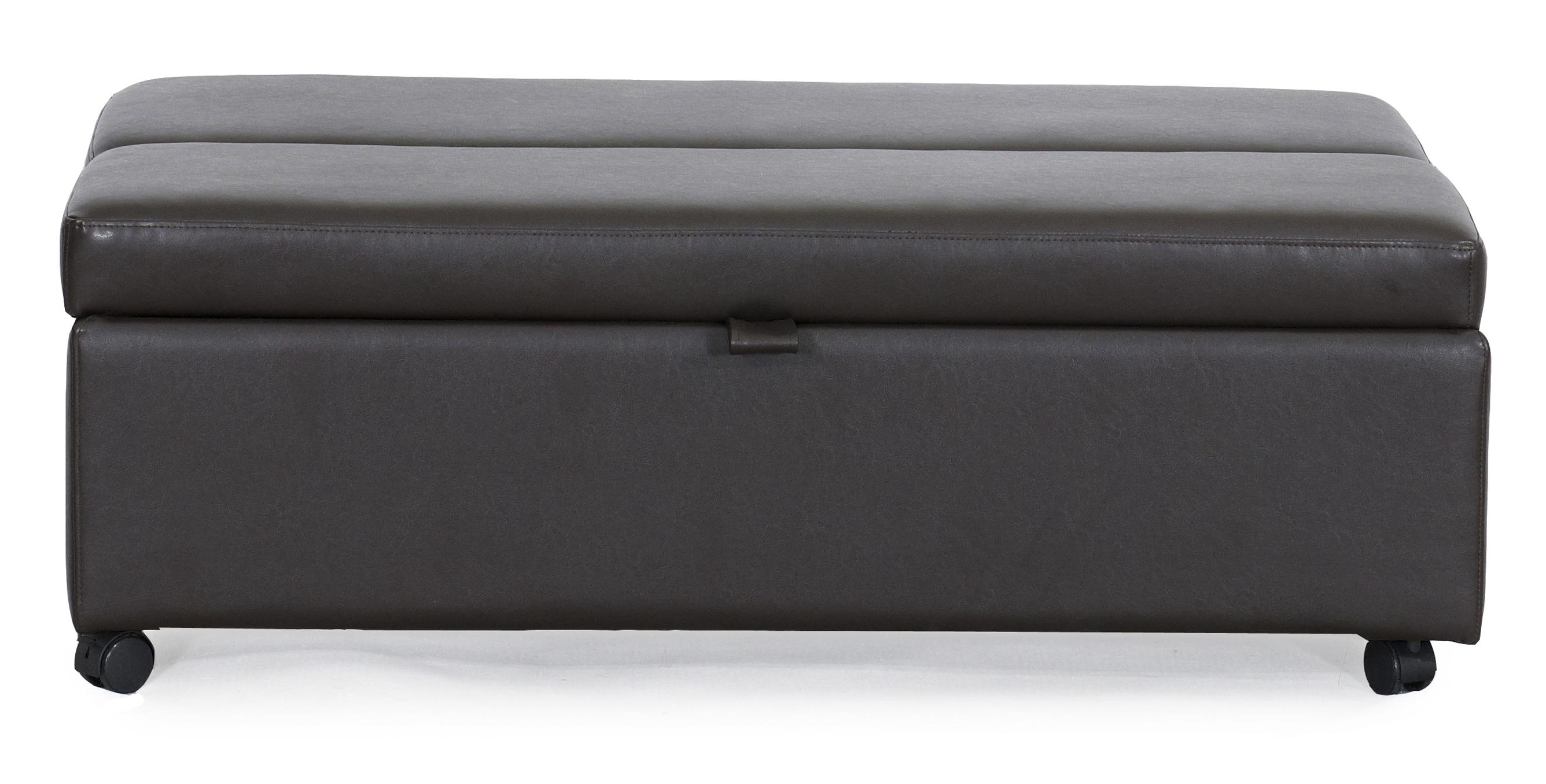 Synergy Home Furnishings 1036 Casual Ottoman Sleeper with Casters