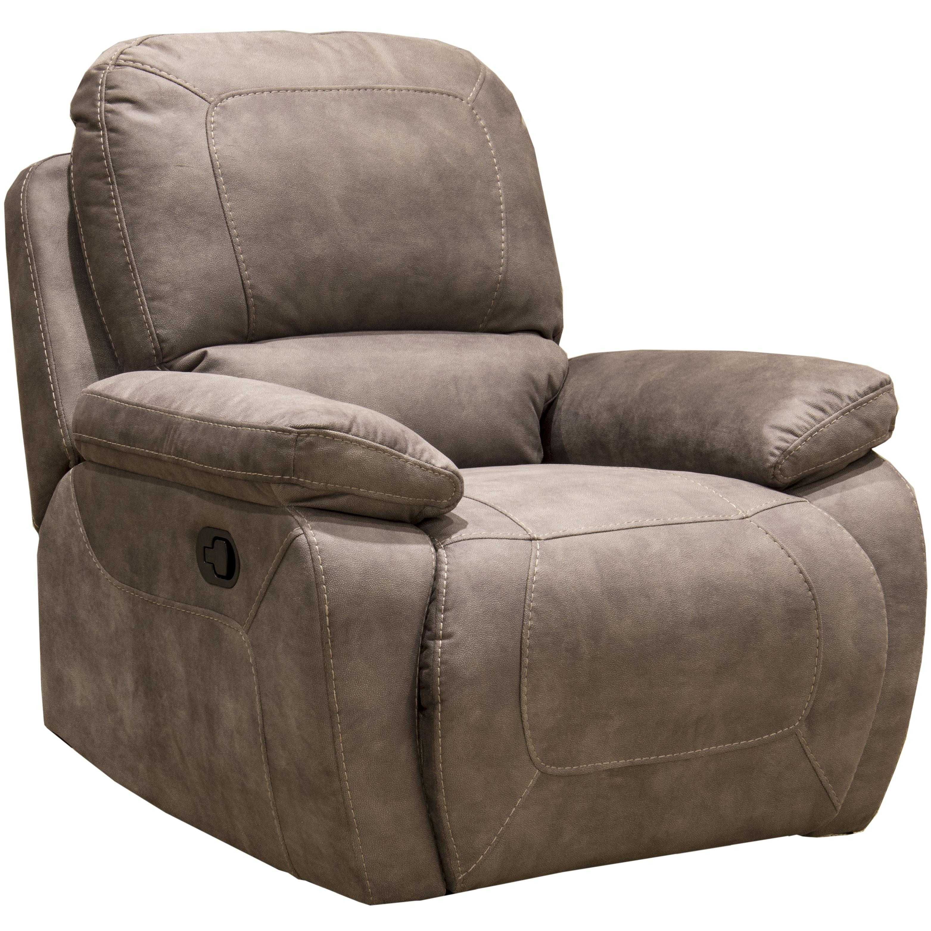 Synergy Home Furnishings 1060 Collection Casual Lay Flat Power Recliner With Pillow Top Arms
