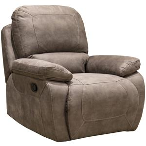 1060 Collection Casual Lay Flat Power Recliner with Pillow Top Arms by Synergy Home Furnishings