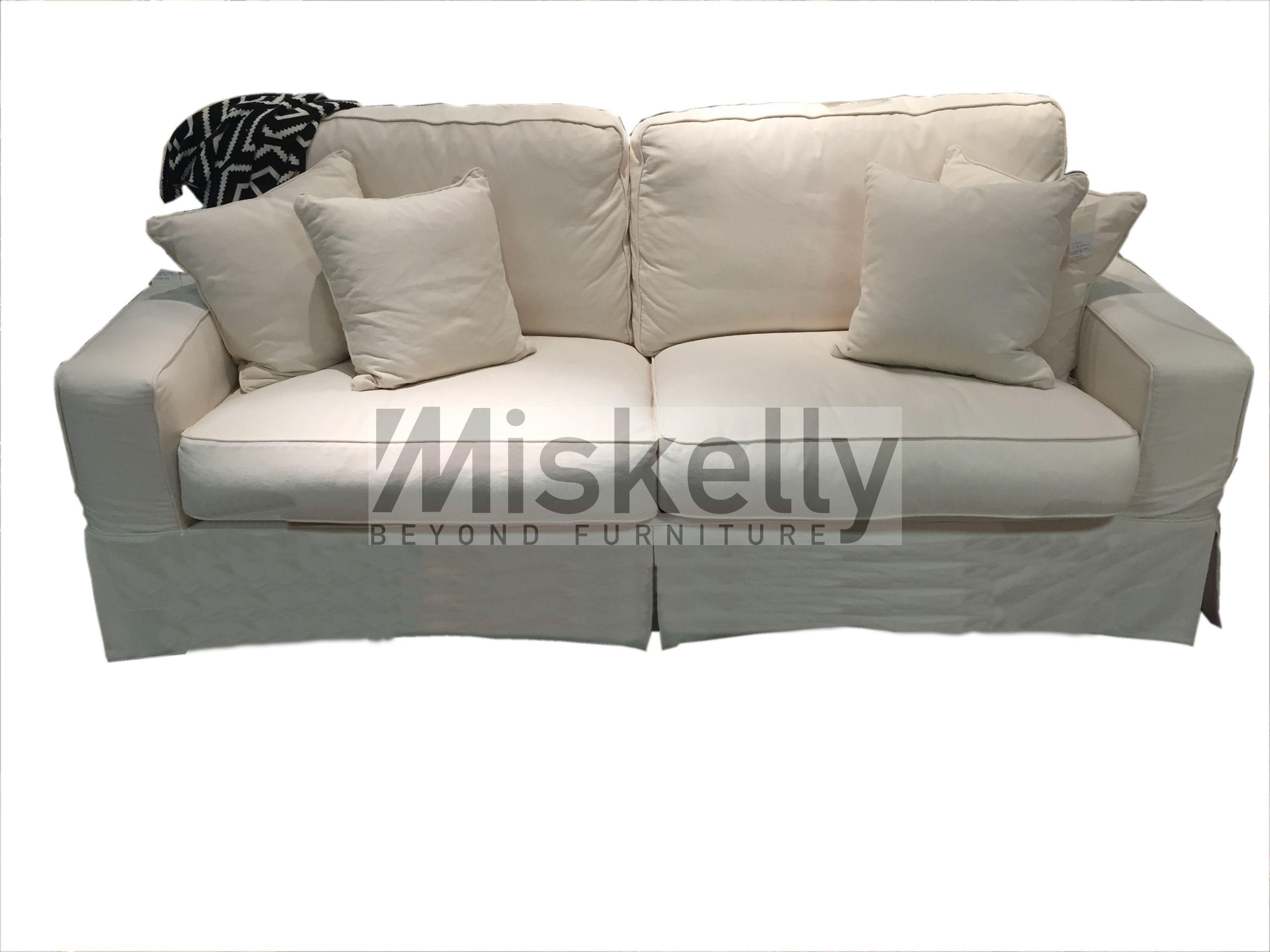 Synergy Home Furnishings Montague Cream Slipcover Sofa   Item Number:  1085 00
