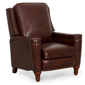 Synergy Home Furnishings 1150 Press Back High Leg Recliner with Nail Head Trim