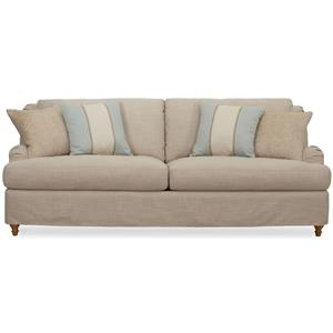 Synergy Home Furnishings 1164 Slipcovered Sofa with English Rolled Arms