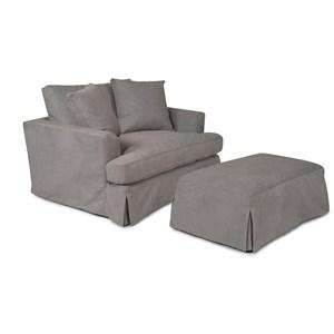 Sarah Randolph Designs-CC 1300 Chair and Ottoman Set