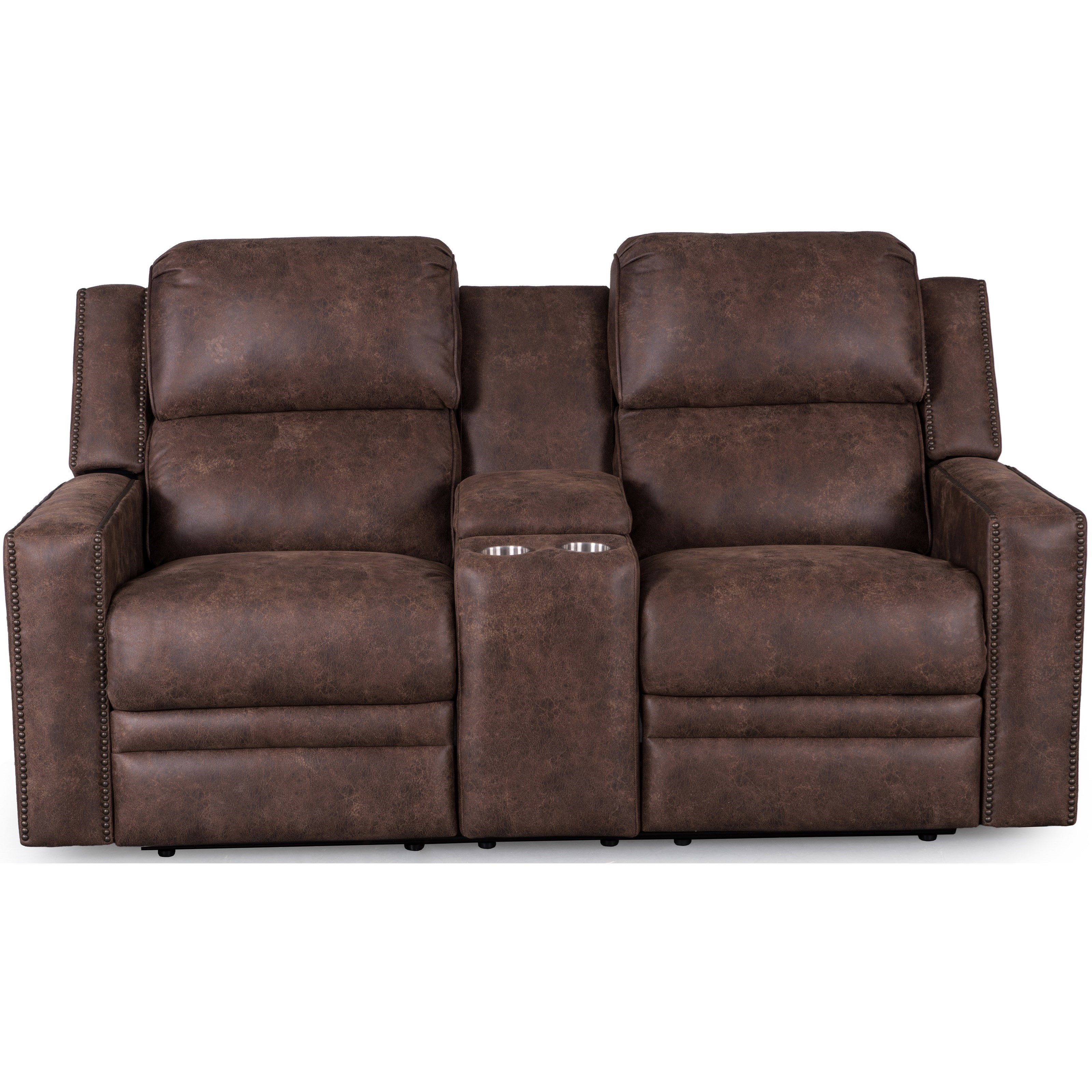 Synergy Home Furnishings 1340 Loveseat with Console - Item Number: 1340-73PHR-PasadenaElk