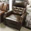 Synergy Home Furnishings 1401 All Leather Recliner - Item Number: 1410-86 PRESCOTT CHOCOLATE