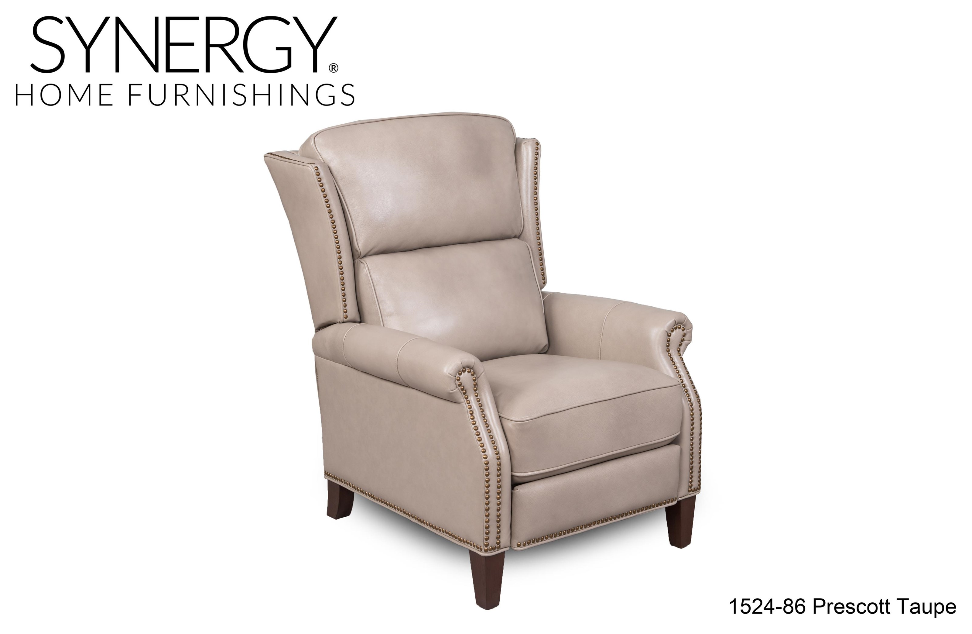 1524 Recliner/prescott Taupe Lv by Synergy Home Furnishings at Stoney Creek Furniture