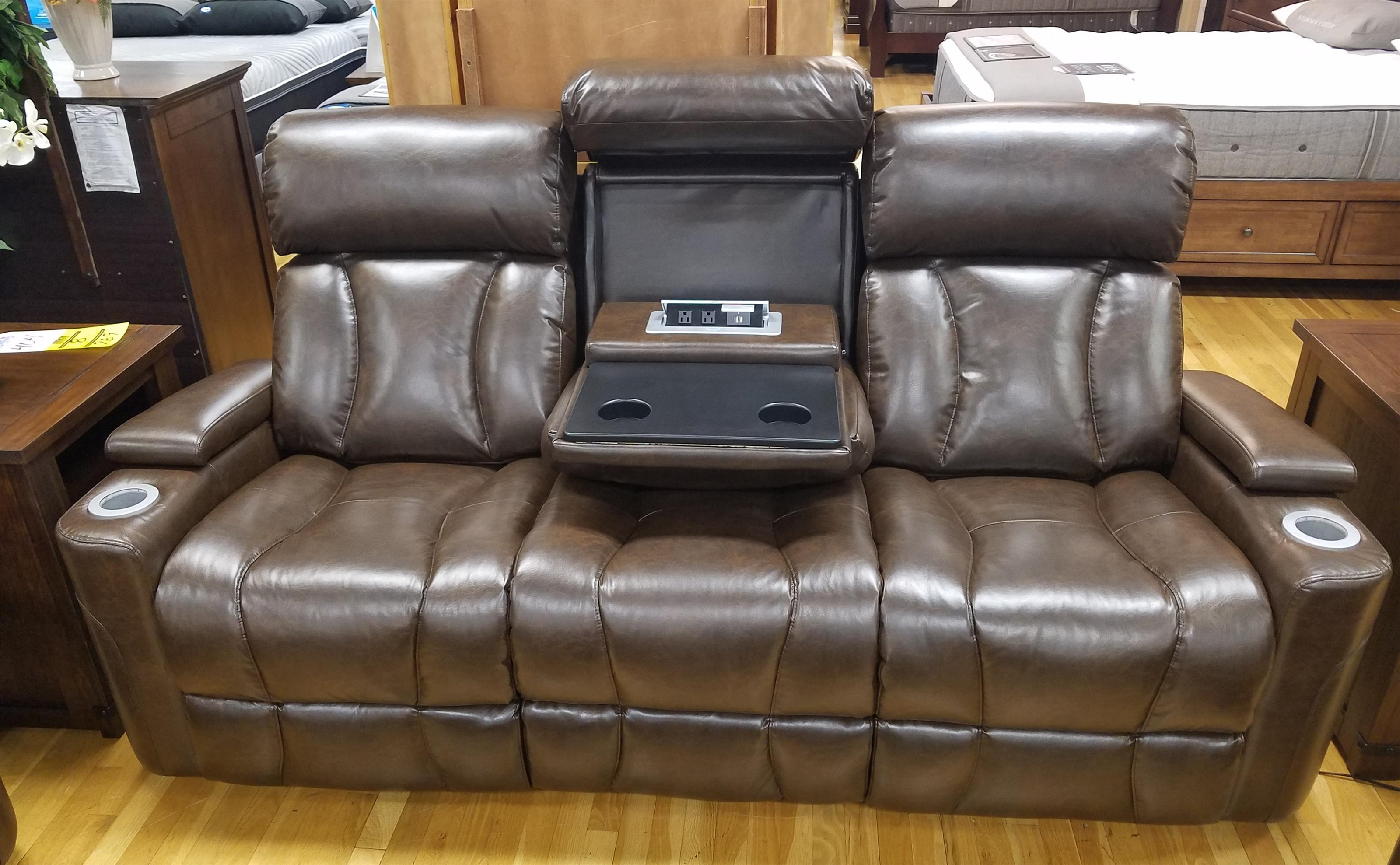 Power Rec. Sofa w/ Pwr Headrest & Drop Table