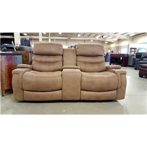 Beau All Power Reclining Loveseat With Console And Cooling Cupholders And USP