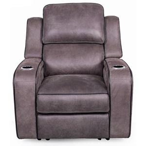 Power Headrest Recliner with LED Lighting