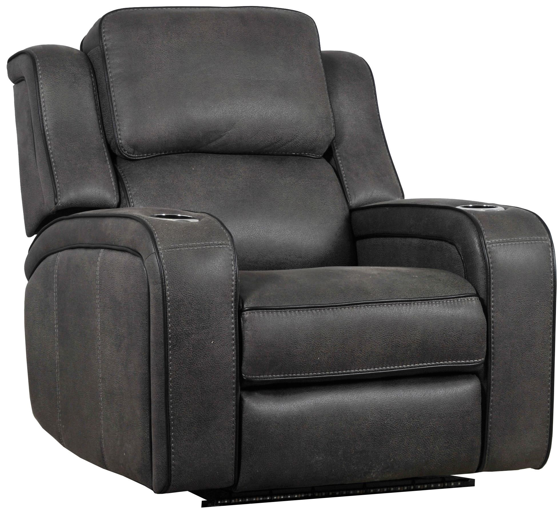 28659 Power Headrest Recliner with LED Lighting by Builtwell at Sadler's Home Furnishings