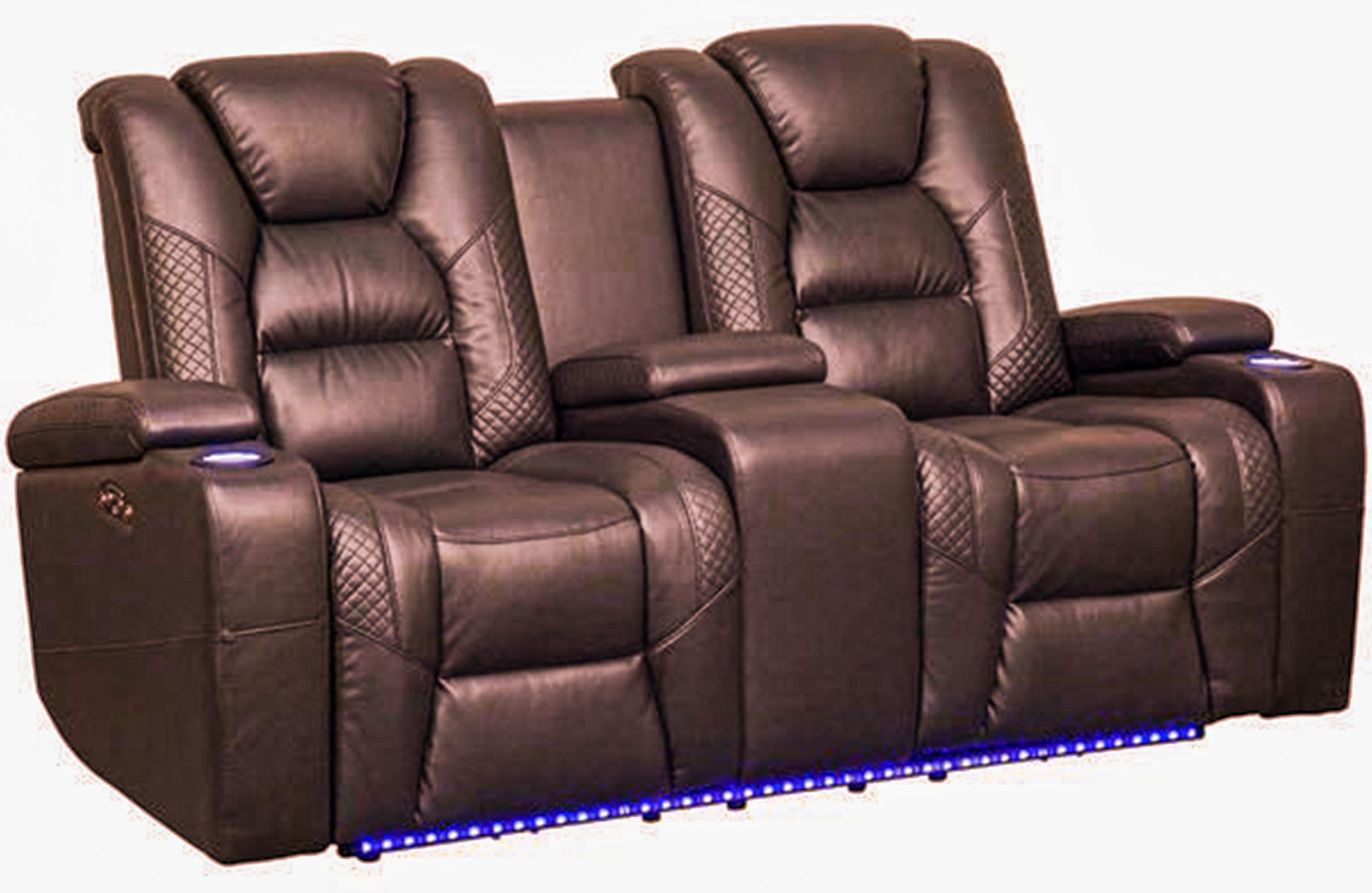 Power Reclining LED Loveseat