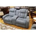 Synergy Home Furnishings 1450 Power Reclining Console Loveseat with Power  - Item Number: 145073PHR