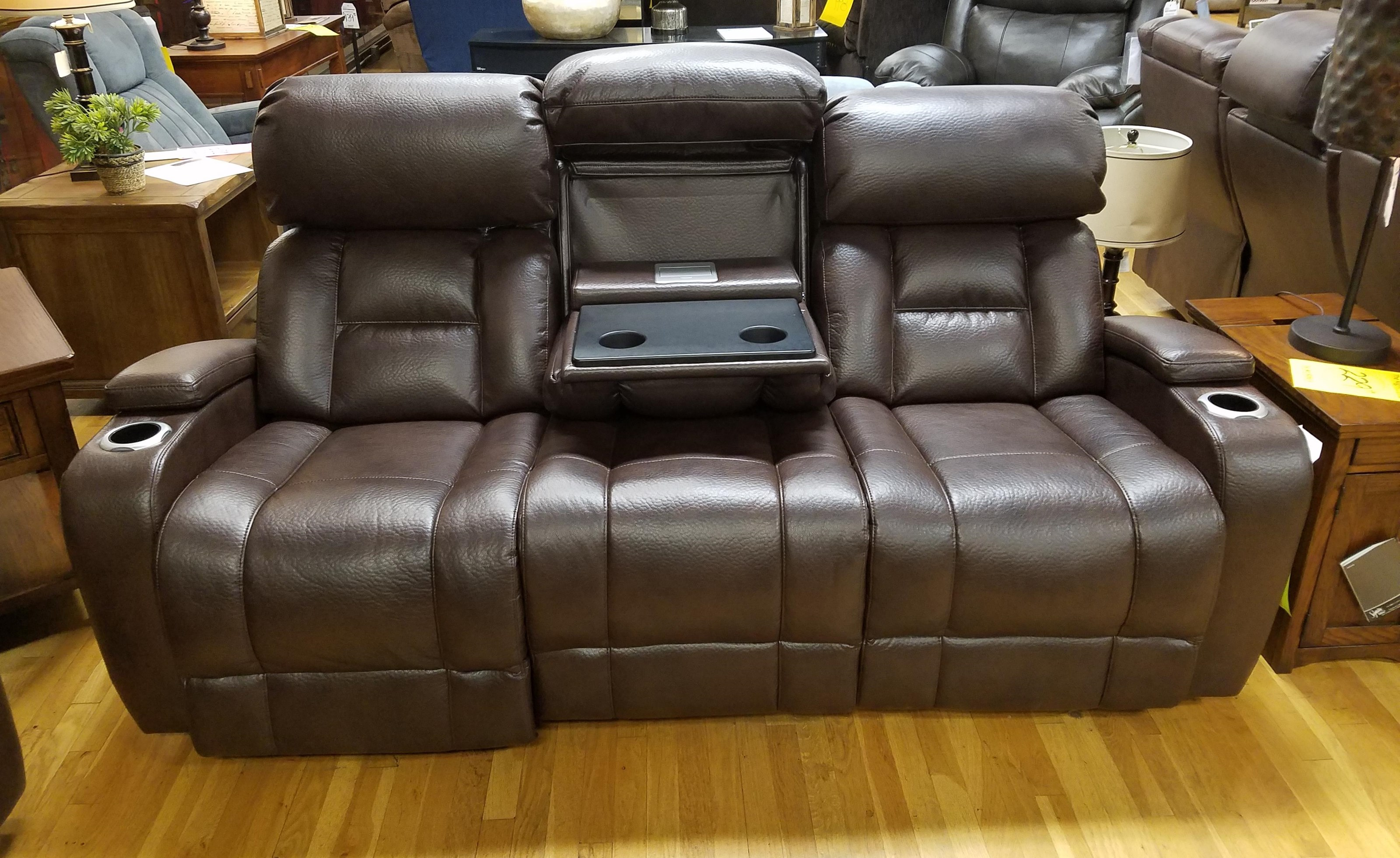 Synergy Home Furnishings 540 Power Rec. Sofa w/ Tray and Power Headrest - Item Number: 540522