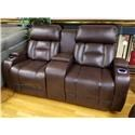 Synergy Home Furnishings 540 Power Reclining Console Loveseat with Power  - Item Number: 540732