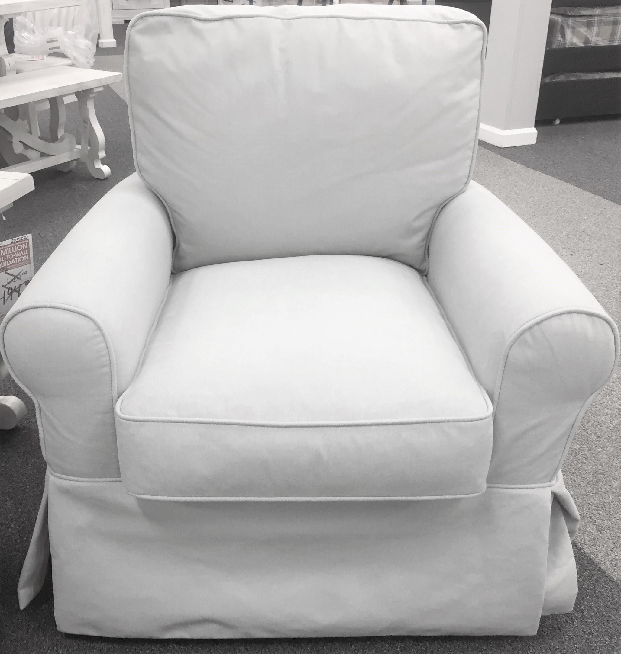 Swivel Slip Cover Chair