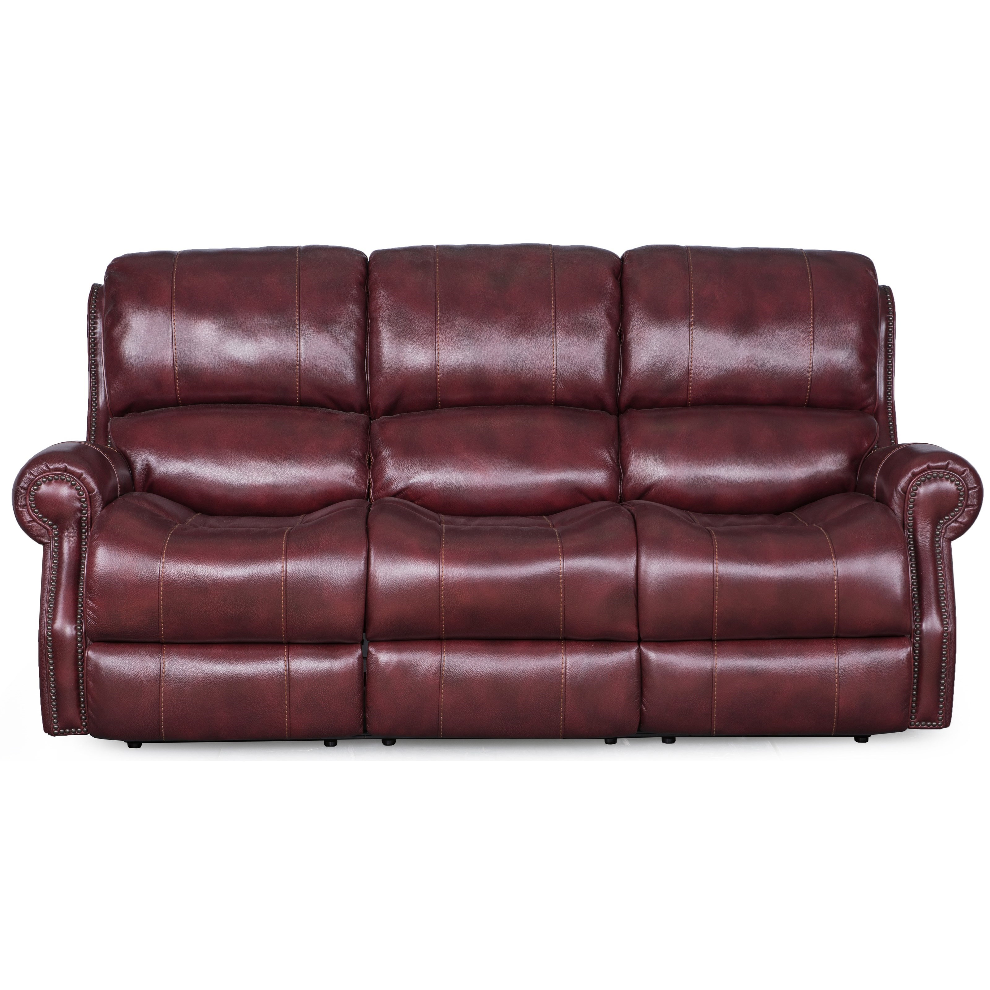 Synergy Home Furnishings Manor Power Sofa - Item Number: 1346-58PWR-BriarwoodMerlot
