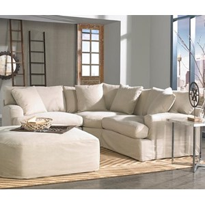 Synergy Home Furnishings Rachel 3 Piece Small Scale Sectional