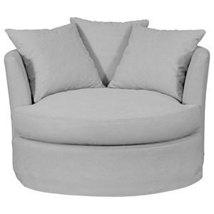 Merveilleux Round Oversize Swivel Chair