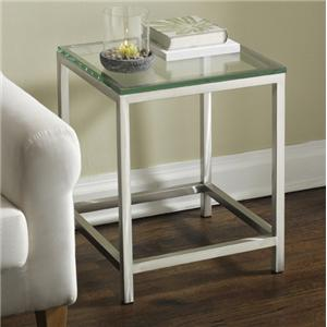 Tag Furniture Soho End Table with Glass Top