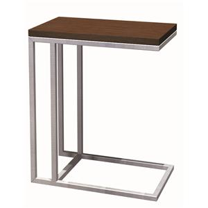 Ogden Thin Frame Stainless Steel and Wood C-Table by Tag Furniture
