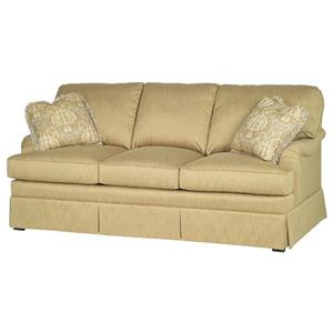 Taylor King Casual Corners Customizable Upholstered Sofa Design Interiors