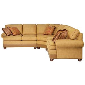Taylor King Casual Corners Customizable Sectional Sofa