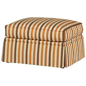 Cozy Creations Customizable Upholstered Ottoman by Taylor King