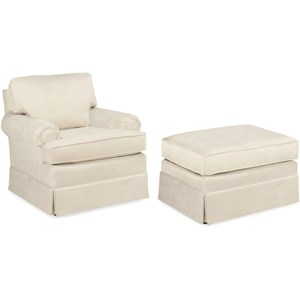 Temple Furniture America Upholstered Chair & Ottoman Set