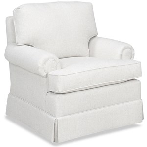 Traditional Chair with T-Seat Cushion and Attached Back