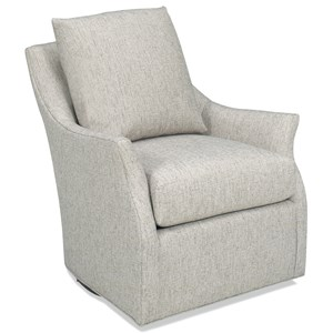 Swivel Chair with Flared Arms