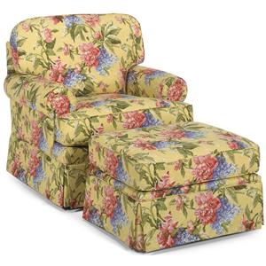 Temple Furniture Tailor Made Chair and Ottoman