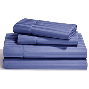 Queen Denim Flat Sheet Set