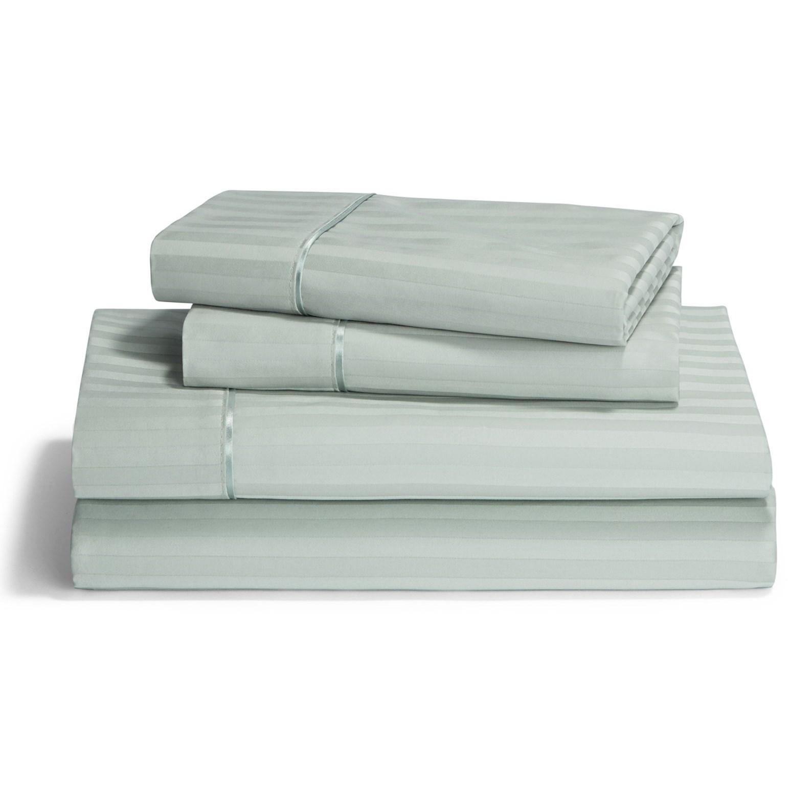 Split King Pale Green Egyp Cotton Sheet Set