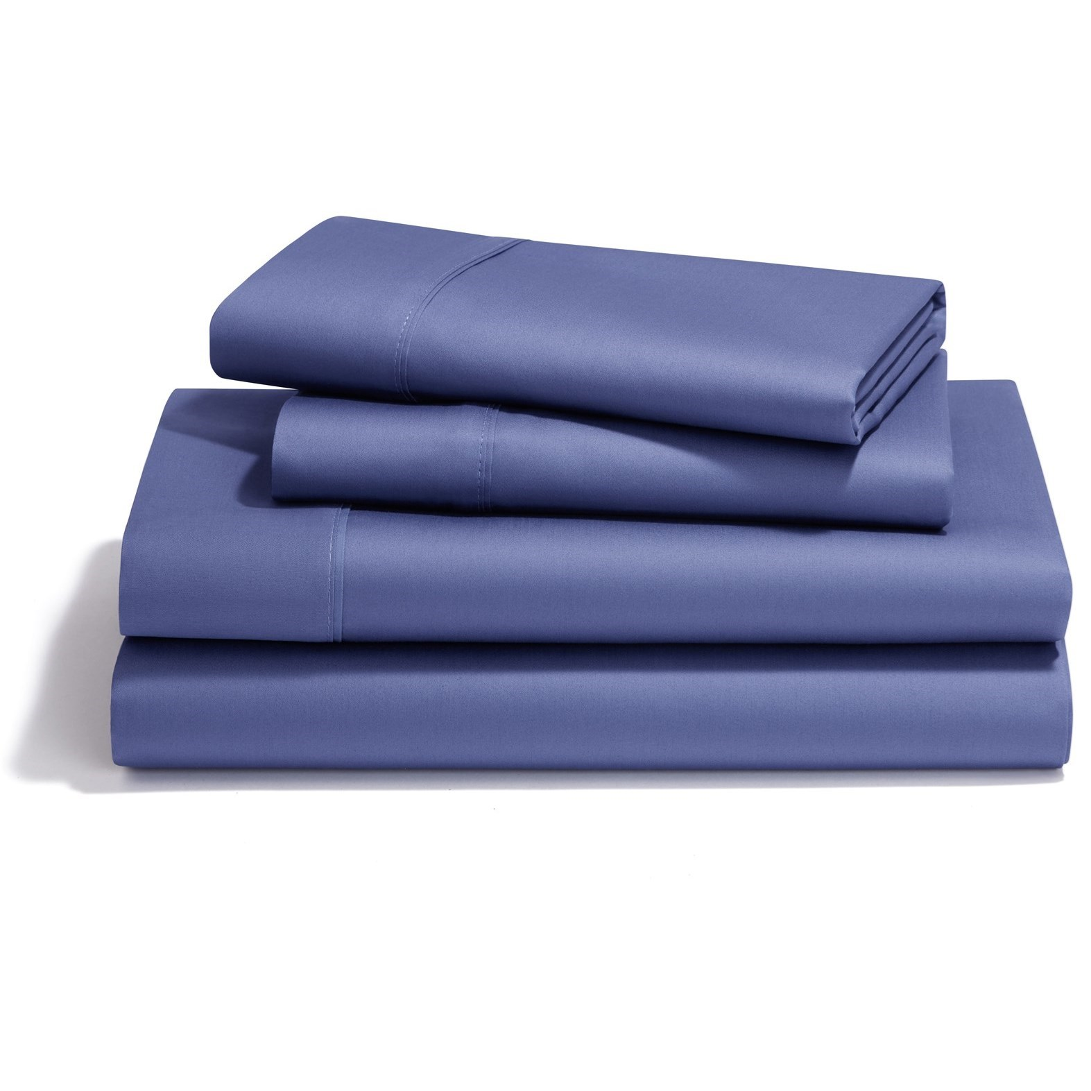 Split Cal King Denim Pima Cotton Sheet Set