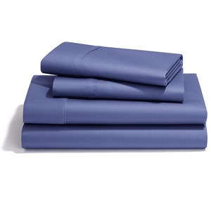 Queen Denim Pima Cotton Sheet Set