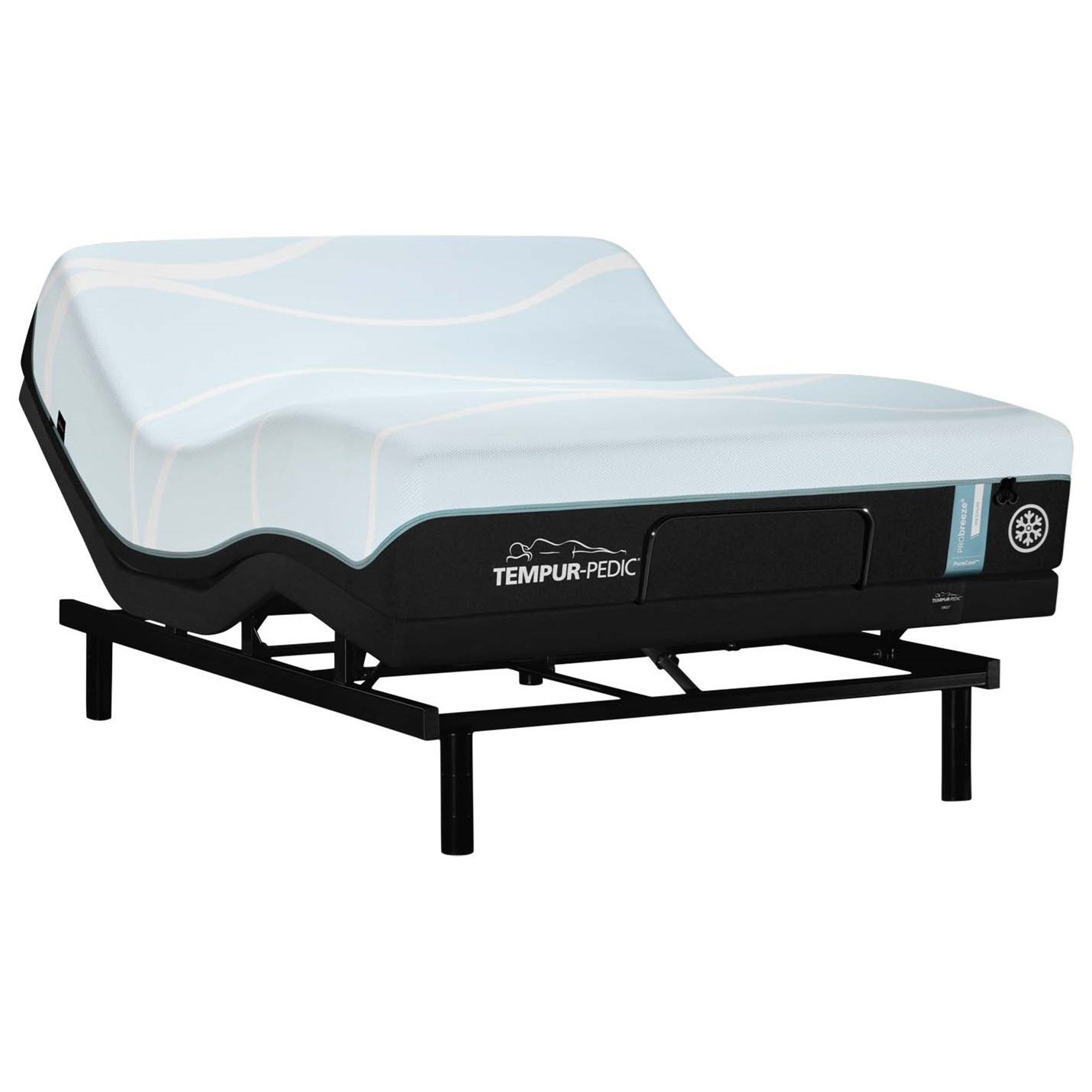 TEMPUR-PRObreeze° Medium Full TEMPUR-PRObreeze° Medium Adj Set by Tempur-Pedic® at SlumberWorld
