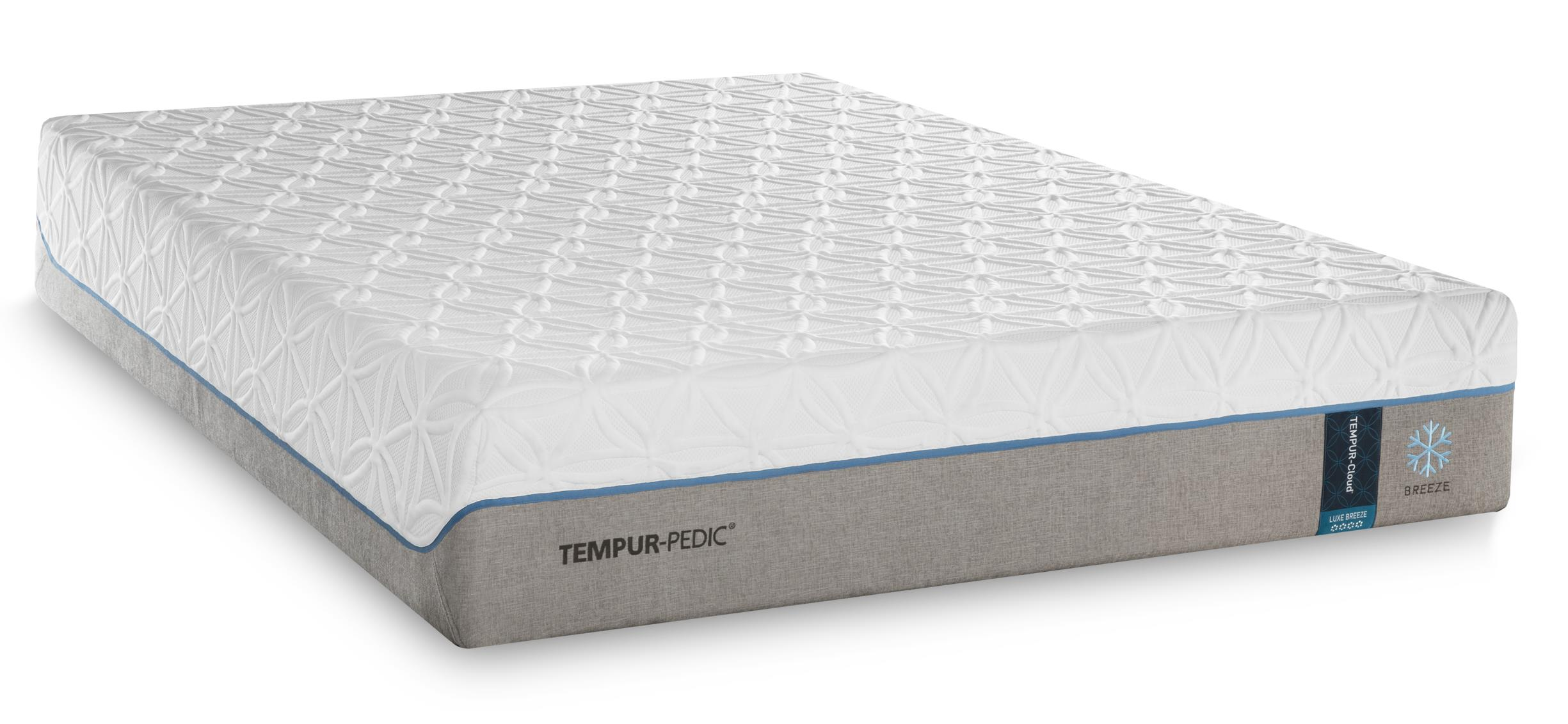 Tempur-Pedic® TEMPUR-Cloud Luxe Breeze 2 Split King Ultra-Soft Mattress Set - Item Number: 2x10109220+2x25565220