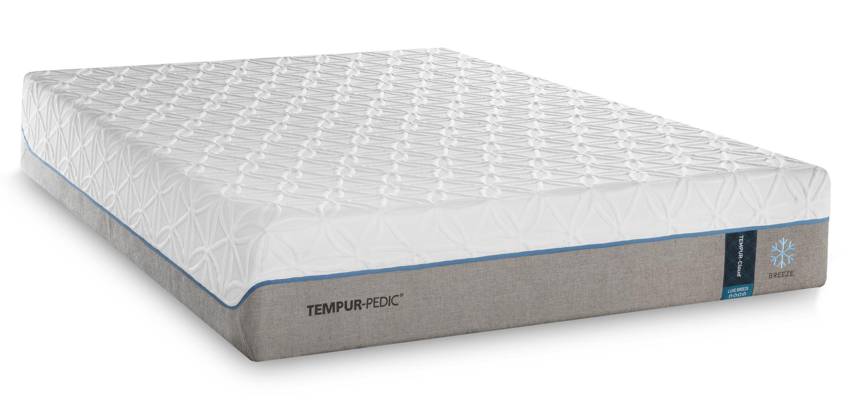 Tempur-Pedic® TEMPUR-Cloud Luxe Breeze 2 Queen Ultra-Soft Mattress Set, Adj - Item Number: 10109250+25287150