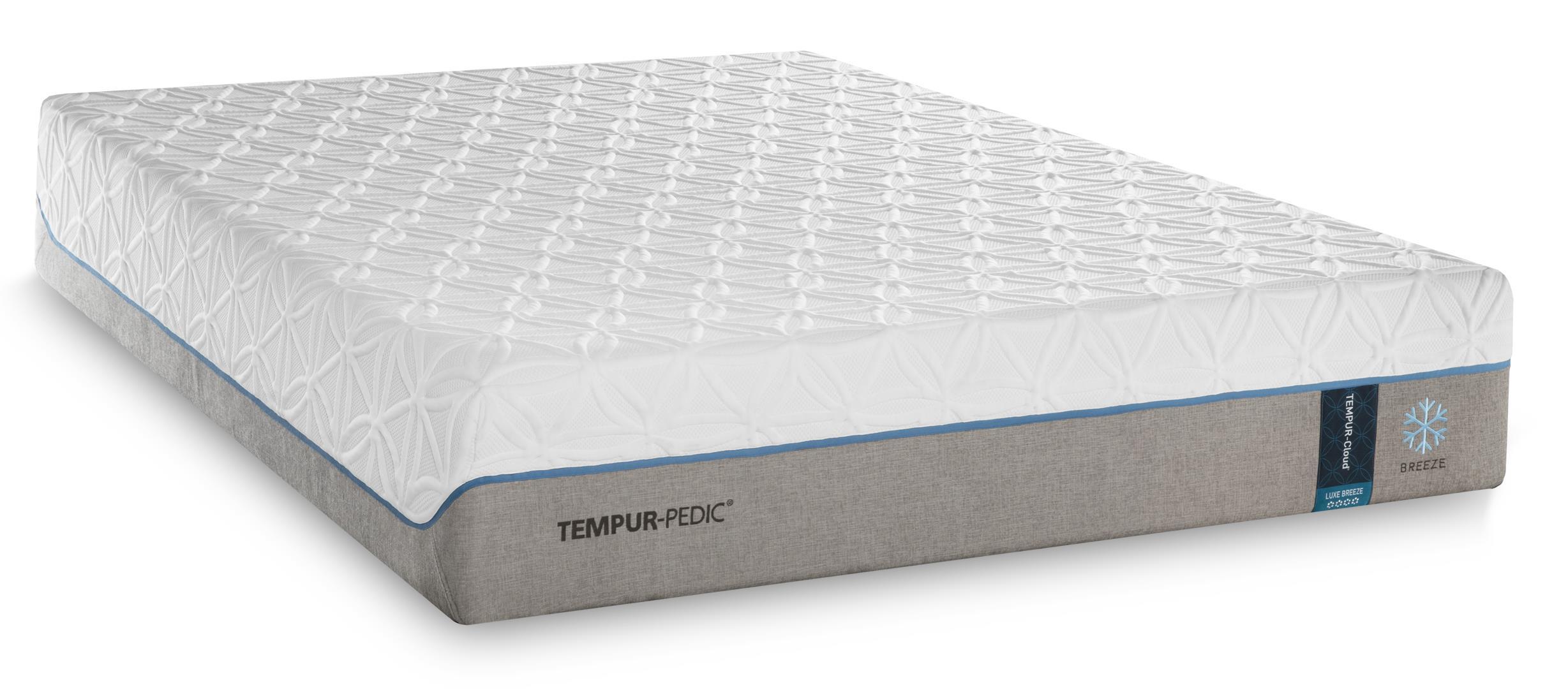 Tempur-Pedic® TEMPUR-Cloud Luxe Breeze 2 Queen Ultra-Soft Mattress Set, Adj - Item Number: 10109250+25289250