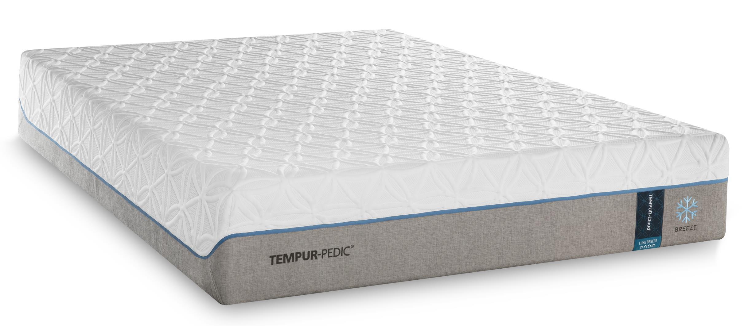 Tempur-Pedic® TEMPUR-Cloud Luxe Breeze 2 King Ultra Soft Adjustable Set - Item Number: 10109270+2x25287120
